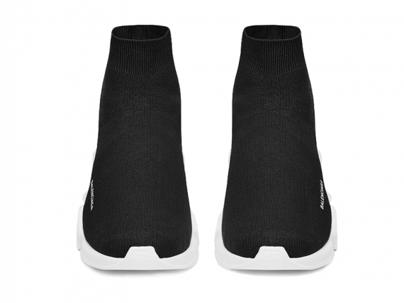 Order Your size Balenciaga Speed Trainers Mid Black White shoes