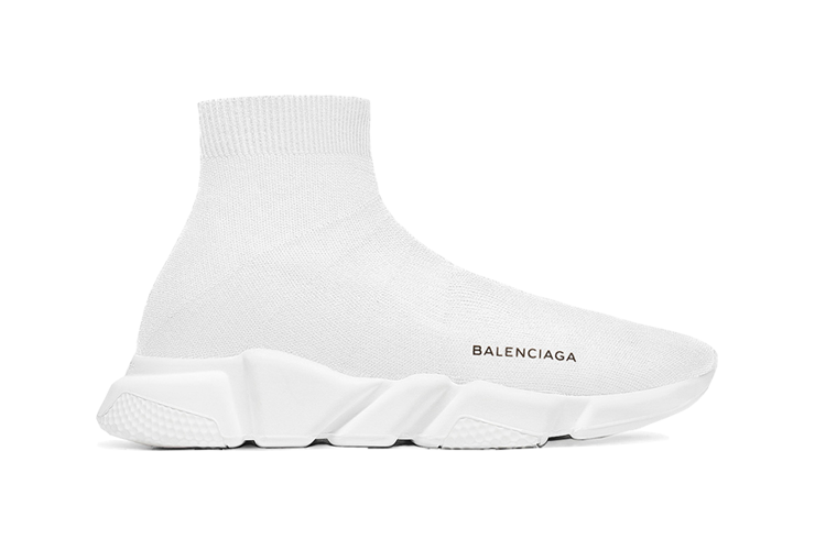 $195 Perfect Balenciaga Speed Trainers Mid White Free Shipping Worldwide snkrs