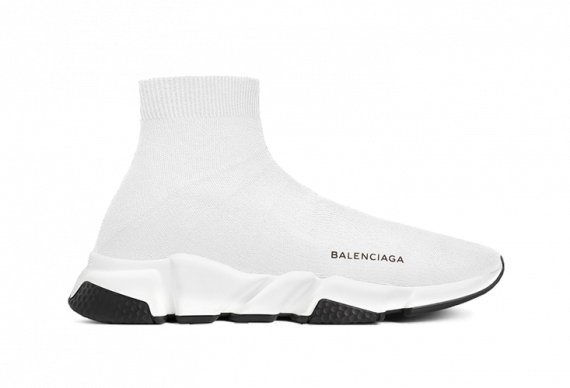 BALENCIAGA SPEED RUNNER MID WHITE/BLACK
