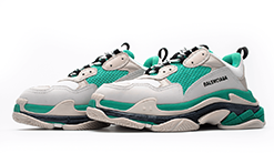 $285 Perfect Balenciaga Triple S Trainers Green / Yellow Free Shipping Worldwide cheap