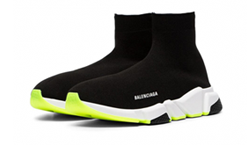 Buy New  Balenciaga  Speed  Trainers Clear Sole White Black